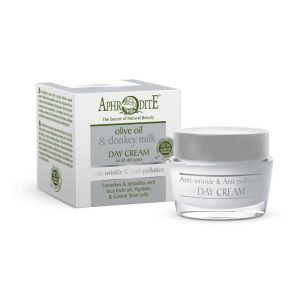 Anti-Wrinkle Cream Aphrodite Olive Oil & Donkey Milk Anti-wrinkle & Anti-pollution Day Cream