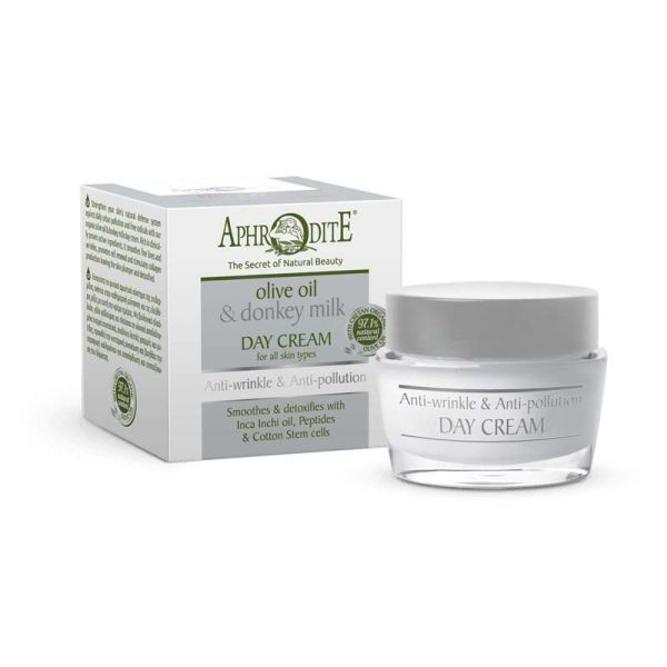 Anti-Wrinkle Cream Aphrodite Olive Oil & Donkey Milk Anti-wrinkle & Anti-pollution Day Cream