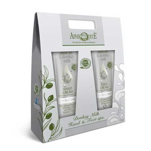 Hand & Foot Care Gift Sets Aphrodite Olive Oil & Donkey Milk Hand & Foot Care Kit