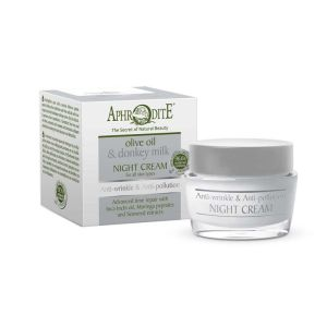 Face Care Aphrodite Olive Oil & Donkey Milk Anti-wrinkle & Anti-pollution Night  Cream