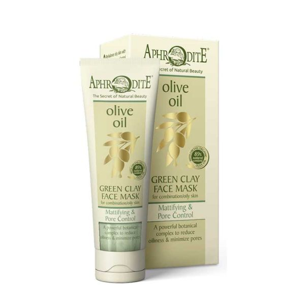 Face Care Aphrodite Olive Oil Green Clay Mattifying & Pore Control Face Mask