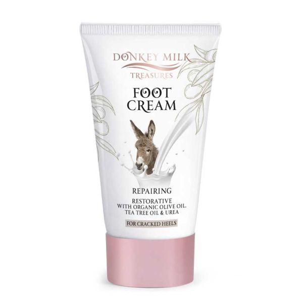 Kρέμα Ποδιών Donkey Milk Treasures Επανορθωτική Κρέμα Ποδιών για Σκασμένες Φτέρνες