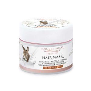 Μάσκα Μαλλιών Donkey Milk Treasures Επανορθωτική / Αναδομητική Μάσκα Μαλλιών