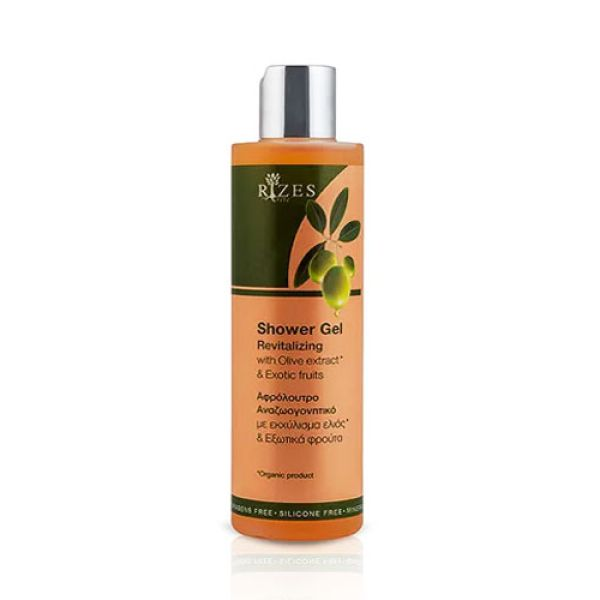 Body Care Rizes Crete Revitalizing Shower Gel with Olive Oil & Exotic Fruits