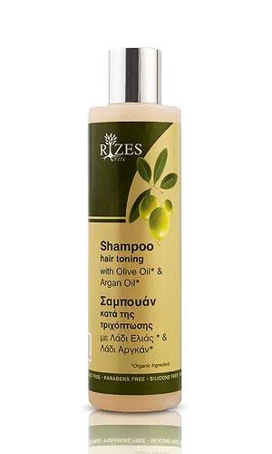 Περιποίηση Μαλλιών Rizes Crete Σαμπουάν Κατά της Τριχόπτωσης με Λάδι Ελιάς* & Λάδι Άργκαν*