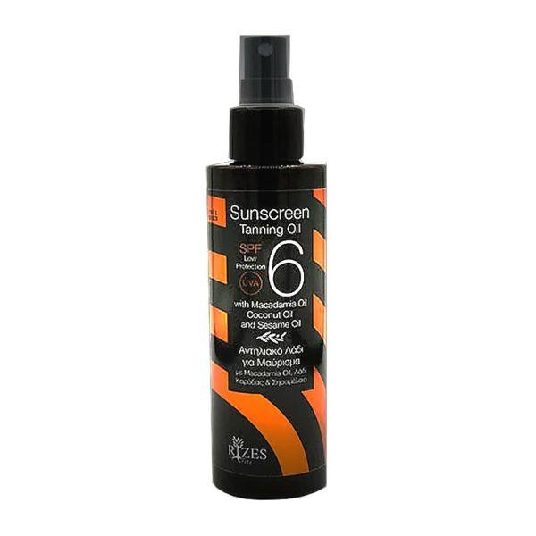 Sun Care Rizes Crete Sunscreen Tanning Oil SPF 6