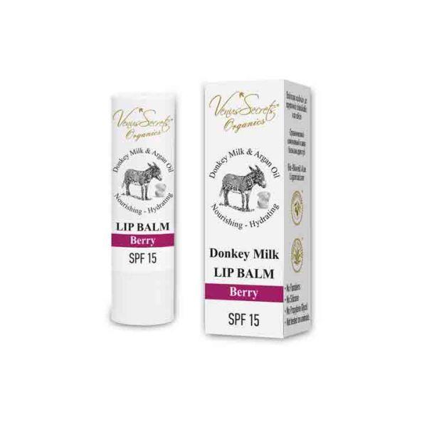 Face Care Venus Secrets Donkey Milk & Berry Lip Balm