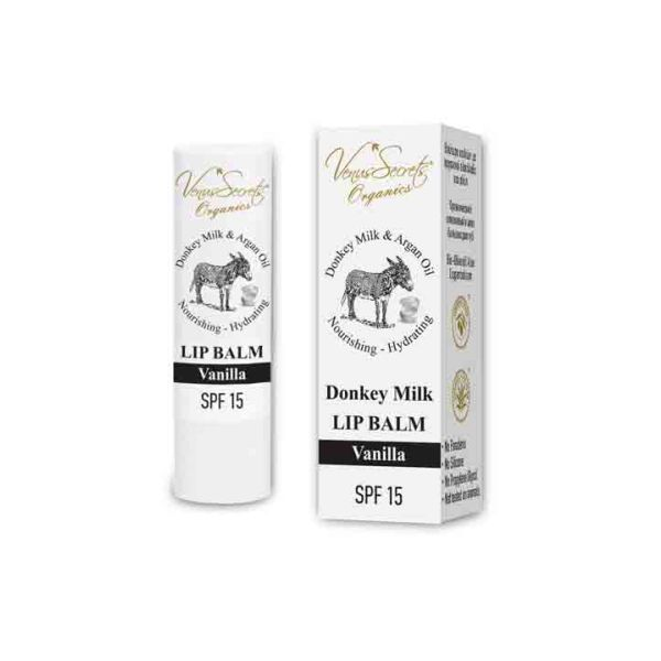 Face Care Venus Secrets Donkey Milk & Vanilla Lip Balm