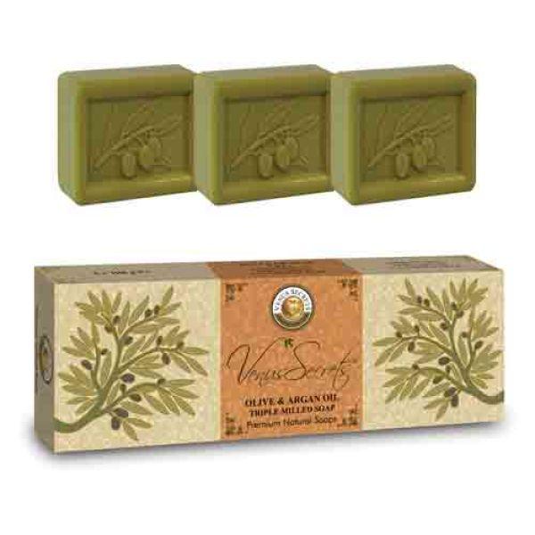 Σαπούνι Venus Secrets Triple-Milled Σαπούνι Ελιάς & Άργκαν (3x100gr))
