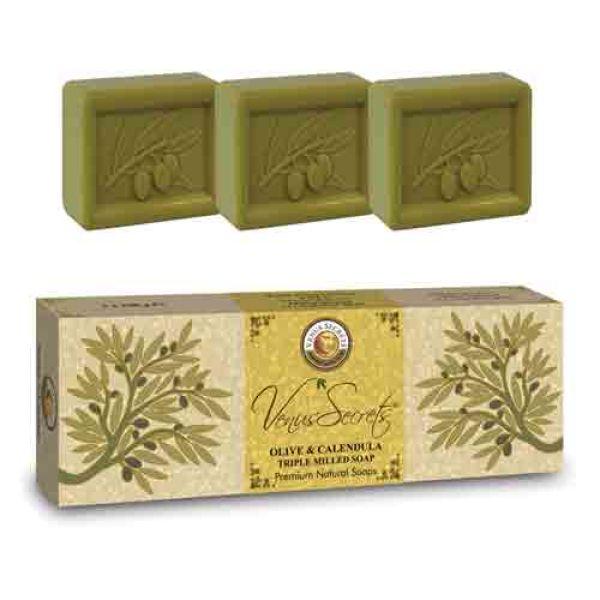 Regular Soap Venus Secrets Triple-Milled Soap Olive & Calendula (3x100gr)