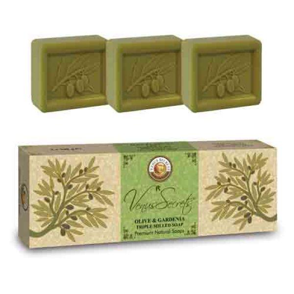 Σαπούνι Venus Secrets Triple-Milled Σαπούνι Ελιάς & Γαρδένιας (3x100gr)