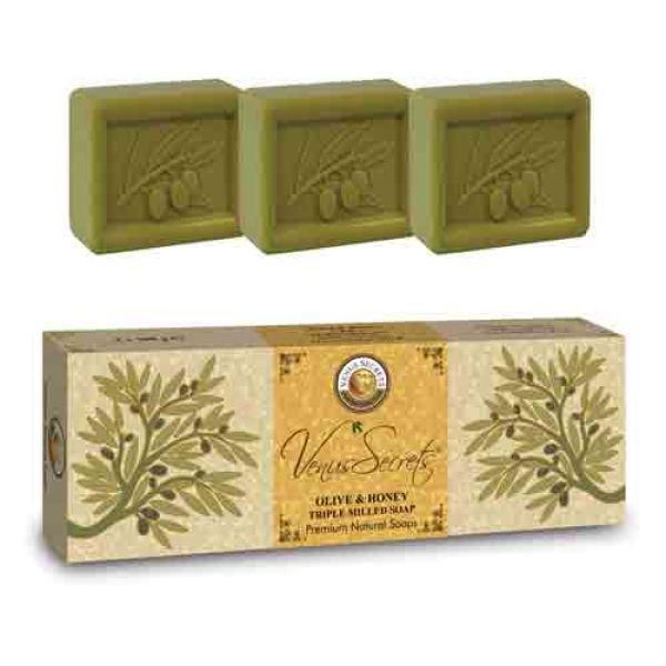 Σαπούνι Venus Secrets Triple-Milled Σαπούνι Ελιάς & Μελιού (3x100gr)