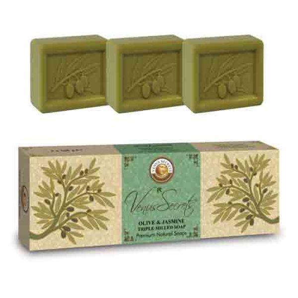 Σαπούνι Venus Secrets Triple-Milled Σαπούνι Ελιάς & Γιασεμιού (3x100gr)