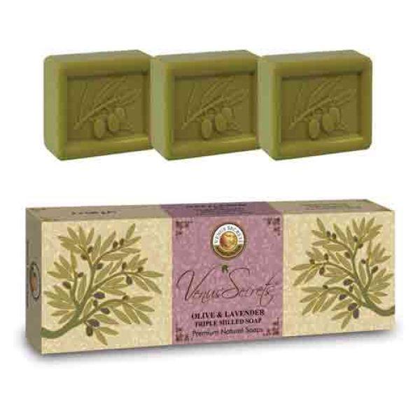 Σαπούνι Venus Secrets Triple-Milled Σαπούνι Ελιάς & Λεβάντας (3x100gr)