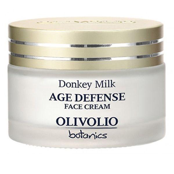 Anti-Wrinkle Cream Olivolio Donkey Milk Age Defense Face Cream for All Skin Types