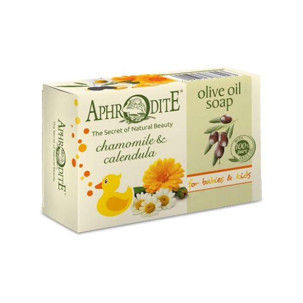 Babies & Kids Care Aphrodite Olive Oil Soap with Chamomile & Calendula