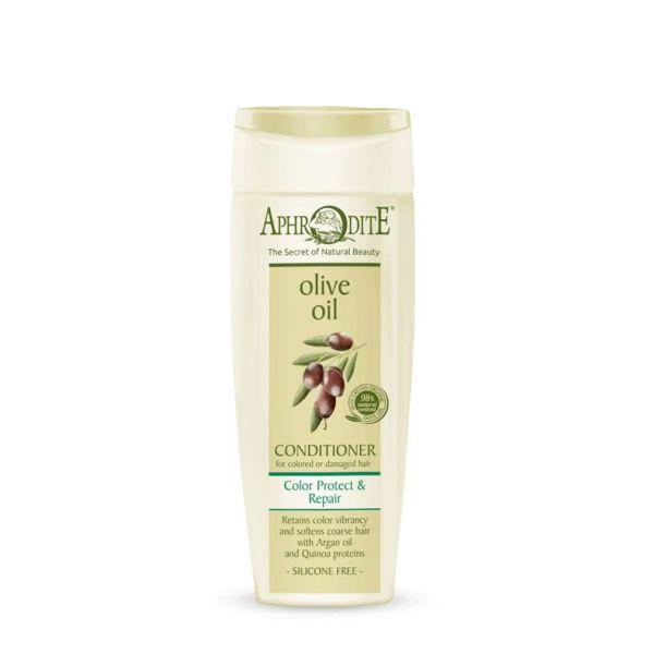 Mαλακτική Κρέμα Aphrodite Olive Oil Μαλακτική Κρέμα Επανόρθωσης Βαμμένα ή Κατεστραμμένα Μαλλιά
