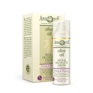 Anti-Wrinkle Cream Aphrodite Olive Oil Firming & Plumping Neck & Decollete Cream