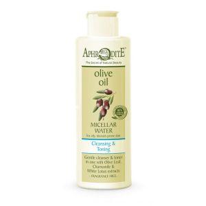 Ντεμακιγιάζ Aphrodite Olive Oil Michellar Νερό Καθαρισμού χωρίς Άρωμα
