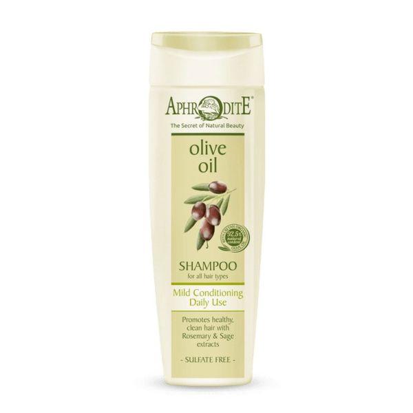 Περιποίηση Μαλλιών Aphrodite Olive Oil Σαμπουάν Καθημερινής Χρήσης για Όλους τους Τύπους Μαλλιών