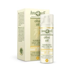 Face Care Aphrodite Olive Oil Protecting & Age Shield Sunblock Face Cream SPF 30