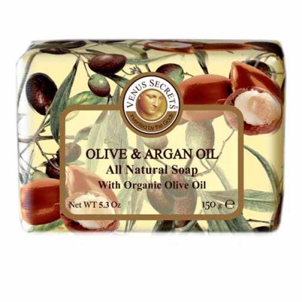 Σαπούνι Venus Secrets Triple-Milled Σαπούνι Ελιάς & Αργκάν (Wrapped)