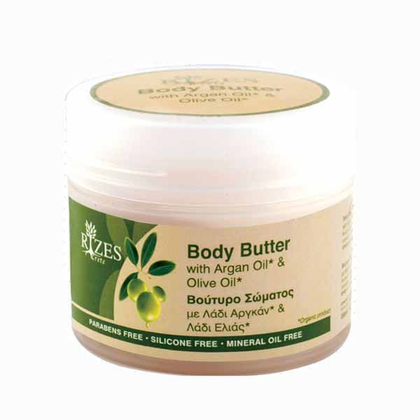 Body Butter Rizes Crete Body Butter with Olive Oil & Argan Oil