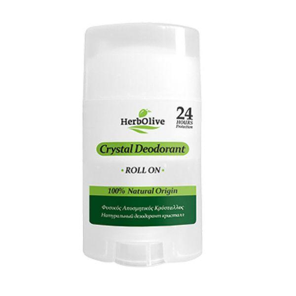 Αποσμητικό HerbOlive Αποσμητικός Κρύσταλος Ρολέτα Σώματος