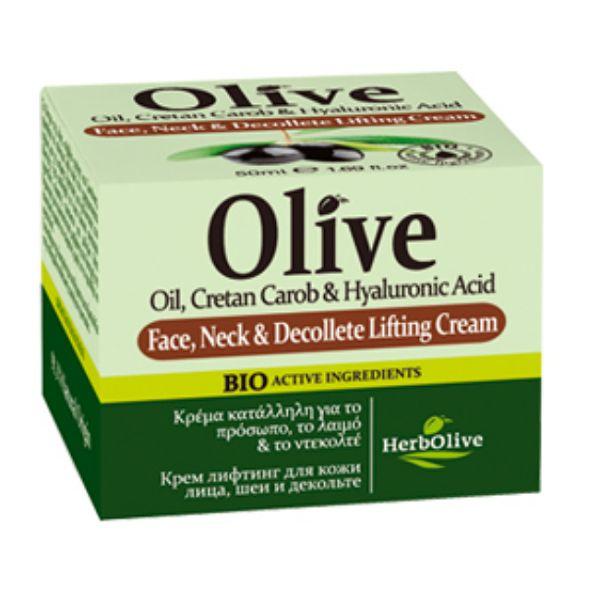 Ανορθωτική / Συσφικτική Κρέμα HerbOlive Κρέμα Ανόρθωσης Προσώπου, Λαιμού & Ντεκολτέ