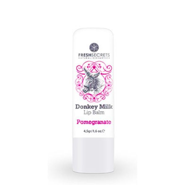 Face Care FreshSecrets Donkey Milk Lip Balm Pomegranate