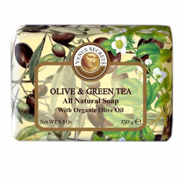 Regular Soap Venus Secrets Triple-Milled Soap Olive & Green Tea (Wrapped)