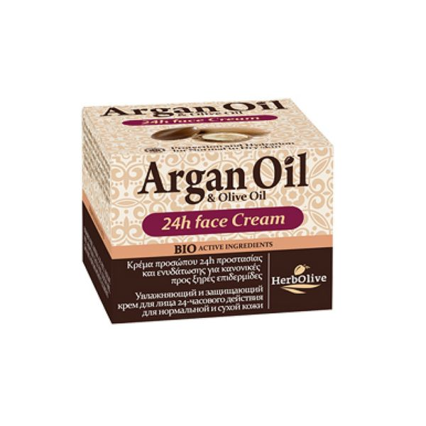 Face Care HerbOlive Argan Face Cream 24Hours Normal & Dry Skin