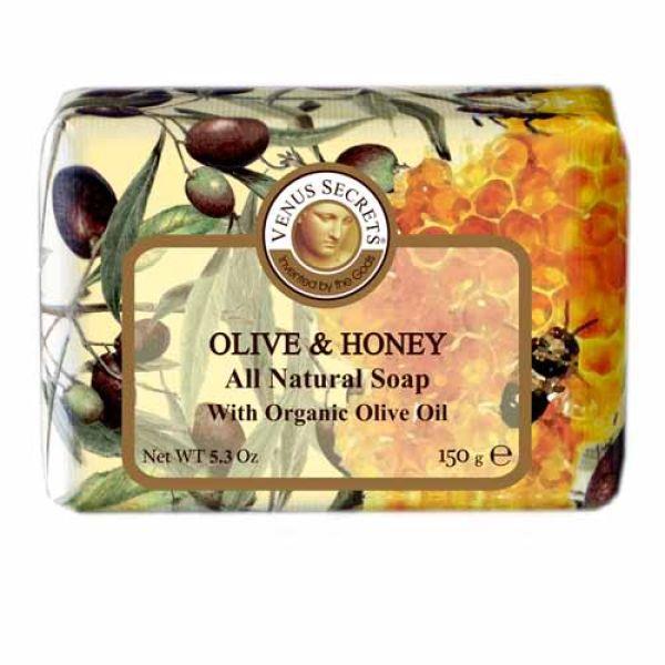 Σαπούνι Venus Secrets Triple-Milled Σαπούνι Ελιάς & Μελιού (Wrapped)