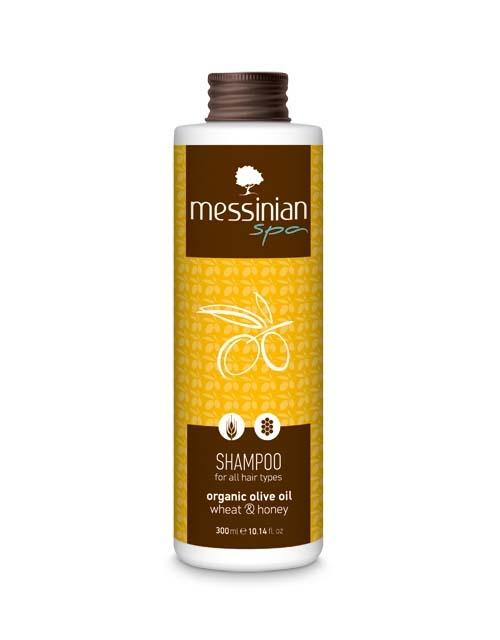 Περιποίηση Μαλλιών Messinian Spa Σαμπουάν για Όλους τους Τύπους Σιτάρι & Μέλι
