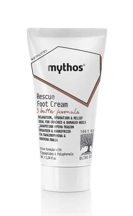 Kρέμα Ποδιών Mythos Χαλαρωτική & Επανορθωτική Κρέμα Ποδιών
