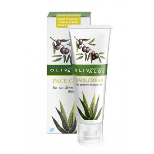 Anti-Acne Care Olivaloe Face Cream for Sensitive & Irritated Skin with Acne