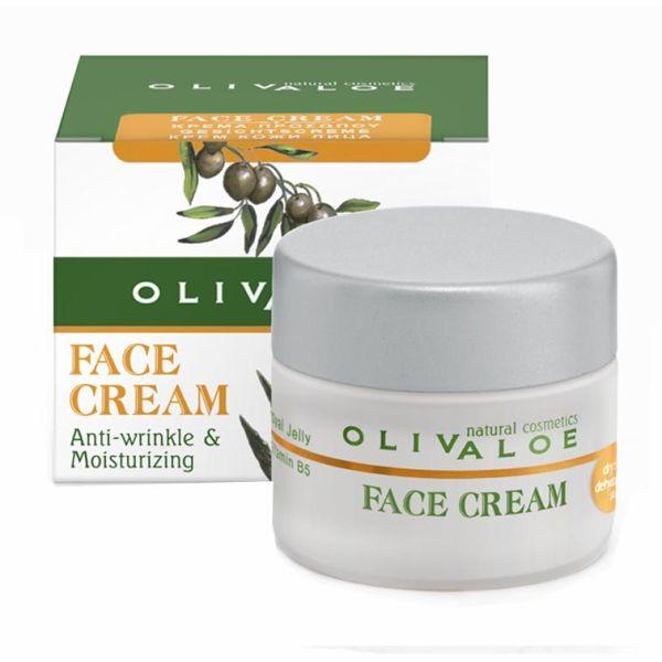 Ενυδατική Olivaloe Κρέμα Προσώπου για Ξηρό & Αφυδατωμένο Δέρμα