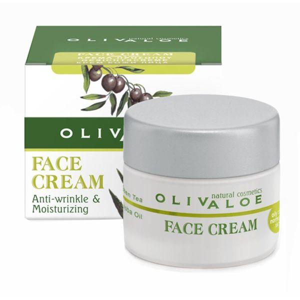 Ενυδατική Olivaloe Κρέμα Προσώπου για Λιπαρό προς Κανονικό Δέρμα