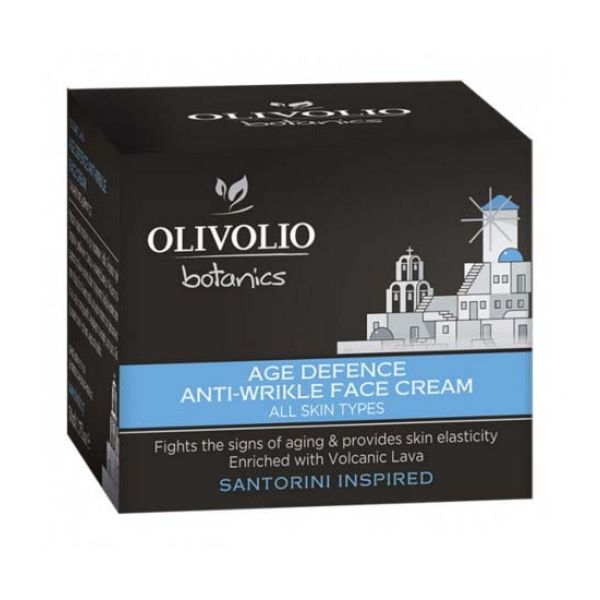 Anti-Wrinkle Cream Olivolio Volcanic Lava Anti-Wrinkle Age Defence Face Cream