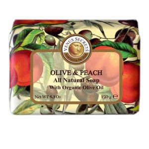 Regular Soap Venus Secrets Triple-Milled Soap Olive & Peach (Wrapped)