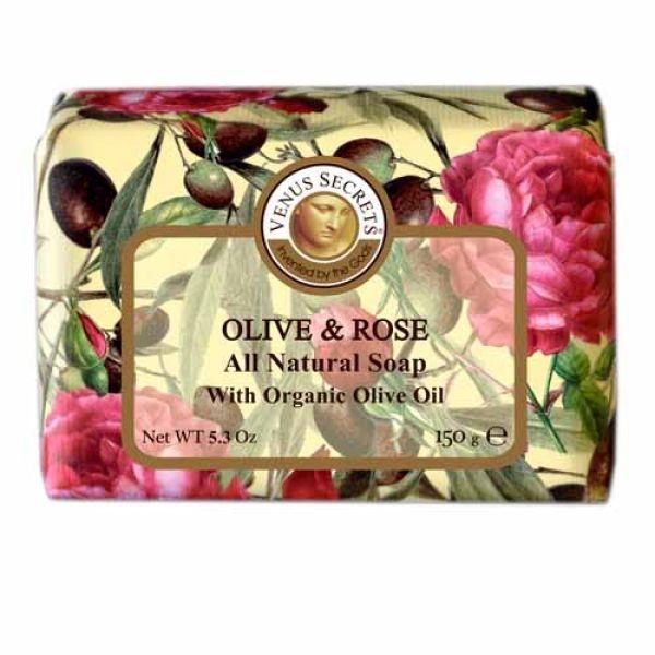 Regular Soap Venus Secrets Triple-Milled Soap Olive & Rose (Wrapped)