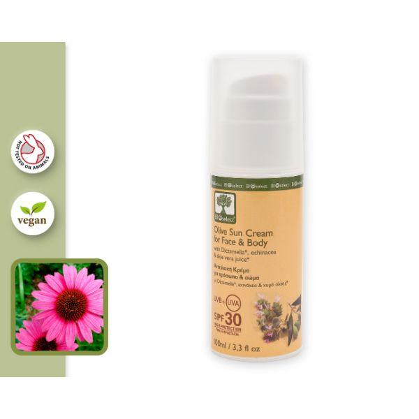 Αντηλιακή Προστασία Bioselect Αντηλιακό για Πρόσωπο & Σώμα / Υψηλή Προστασία SPF 30