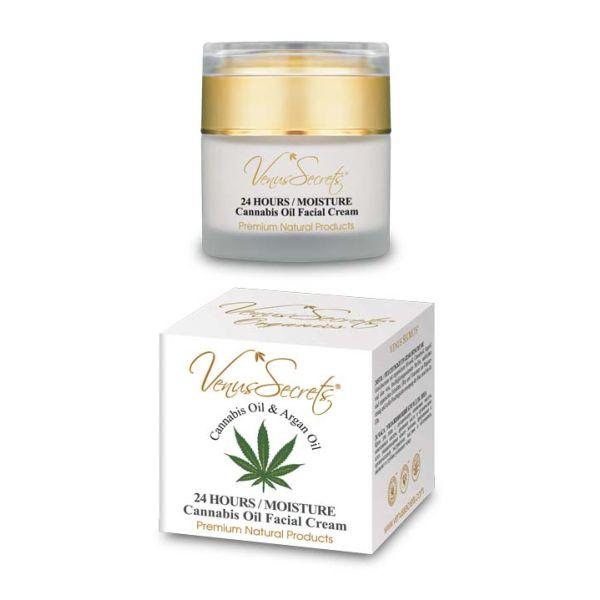 Face Care Venus Secrets Cannabis & Argan Oil 24hours Moisture Face Cream