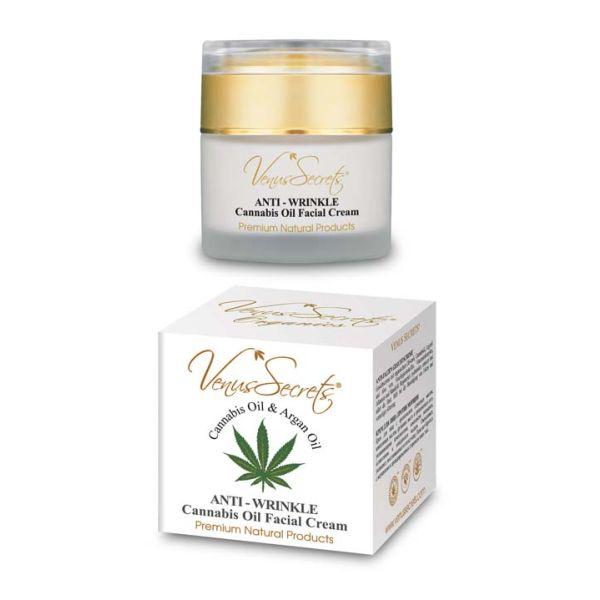 Anti-Wrinkle Cream Venus Secrets Cannabis & Argan Oil Anti-Wrinkle Face Cream