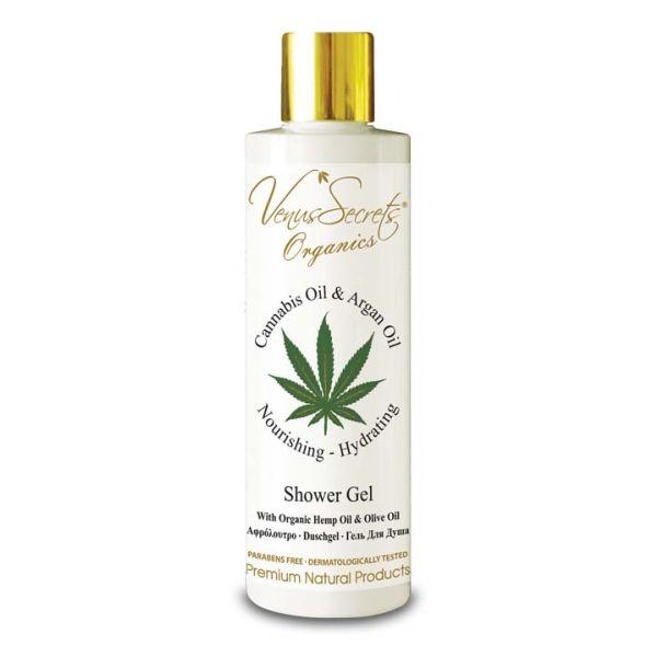 Body Care Venus Secrets Organics Cannabis & Argan Oil Shower Gel