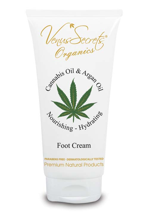 Kρέμα Ποδιών Venus Secrets Organics Έλαιο Κάνναβης & Αργκάν Κρέμα για τα Πόδια