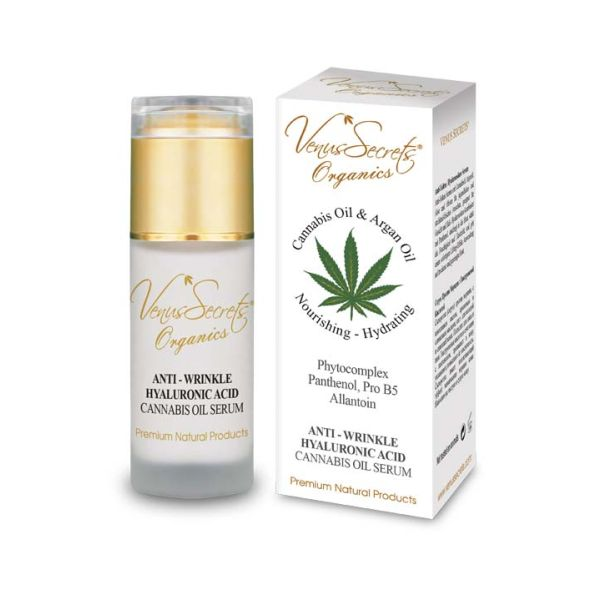 Face Care Venus Secrets Cannabis & Argan Oil Anti-Wrinkle Hyaluronic Acid Face Serum