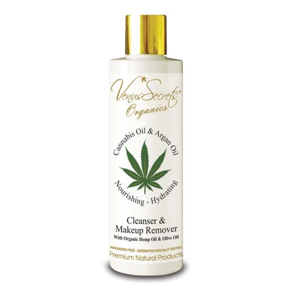 Cleansing Milk Venus Secrets Cannabis & Argan Oil Cleanser & Makeup Remover
