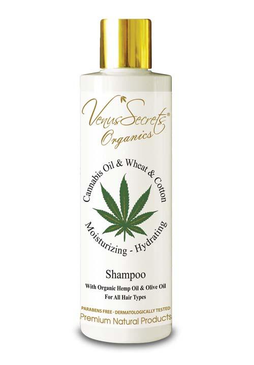 Περιποίηση Μαλλιών Venus Secrets Organics Έλαιο Κάνναβης & Σιτάρι Σαμπουάν