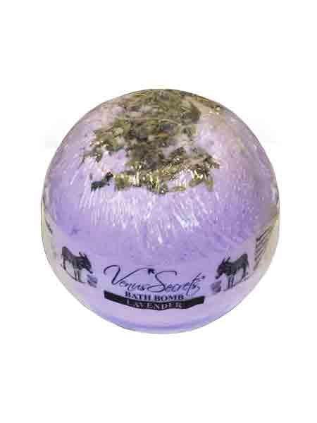 Bath Bomb Venus Secrets Γάλα Γαϊδούρας Bath Bomb Λεβάντα